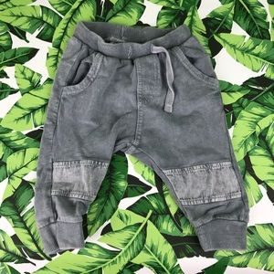 5 for $25 Zara Babyboy Gray Patch Joggers